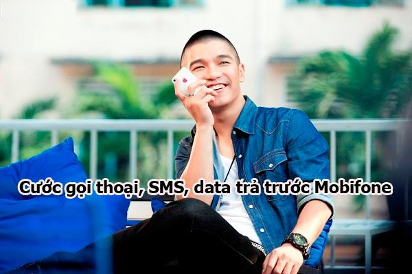 Thông tin cước gọi thoại, SMS, data trả trước Mobifone