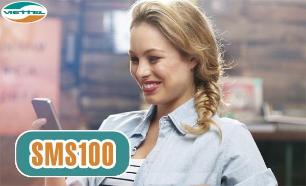 Đăng ký gói SMS100 Viettel có 100 tin nhắn miễn phí chỉ 3k