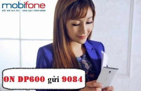 Nhận ưu đãi 3 trong 1 cùng gói cước DP600 Mobifone