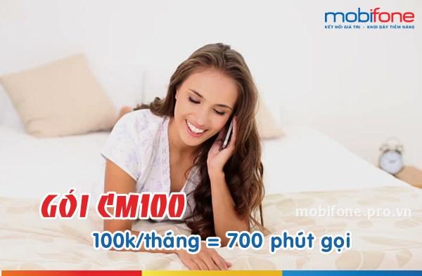 Ưu đãi 700 phút gọi hấp dẫn cùng gói cước CM100 Mobifone