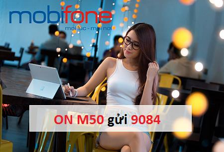 Nhận ưu đãi khủng 450MB data cùng gói cước M50 Mobifone