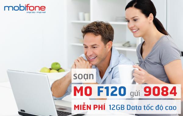 Ưu đãi lớn 12GB Data cùng gói cước F120 của Mobifone