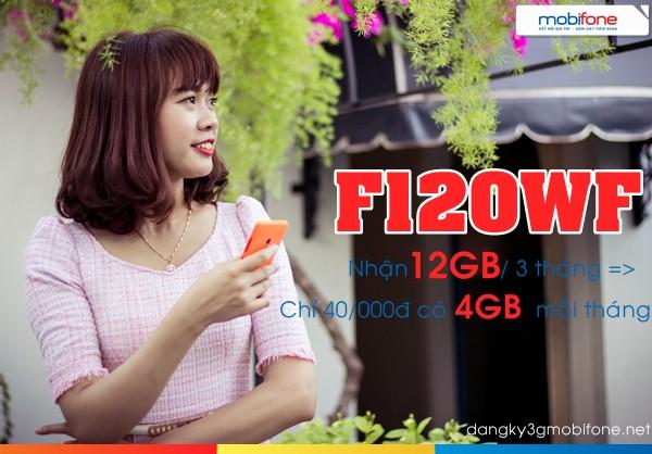 Bật mí cách đăng kí gói  F120WF Mobifone nhận 4GB  chỉ với 40.000đ mỗi tháng