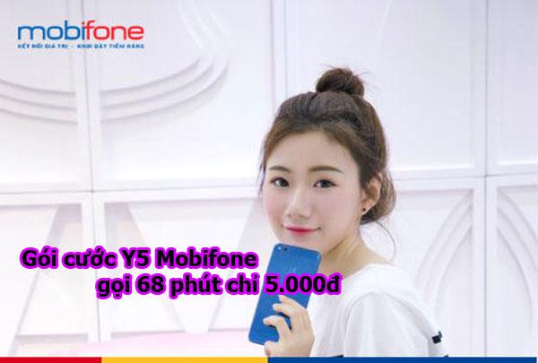 Đăng ký gói cước Y5 Mobifone gọi 68 phút nội mạng chỉ 5.000đ