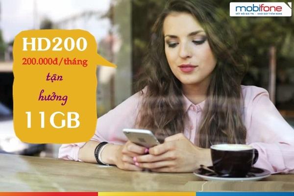 Đăng ký gói HD200 mobifone nhận tới 11GB dữ liệu 4G