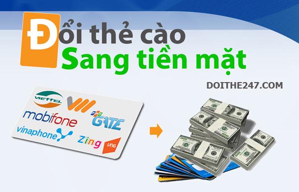 Hướng dẫn đổi card ra tiền mặt qua mạng dễ dàng