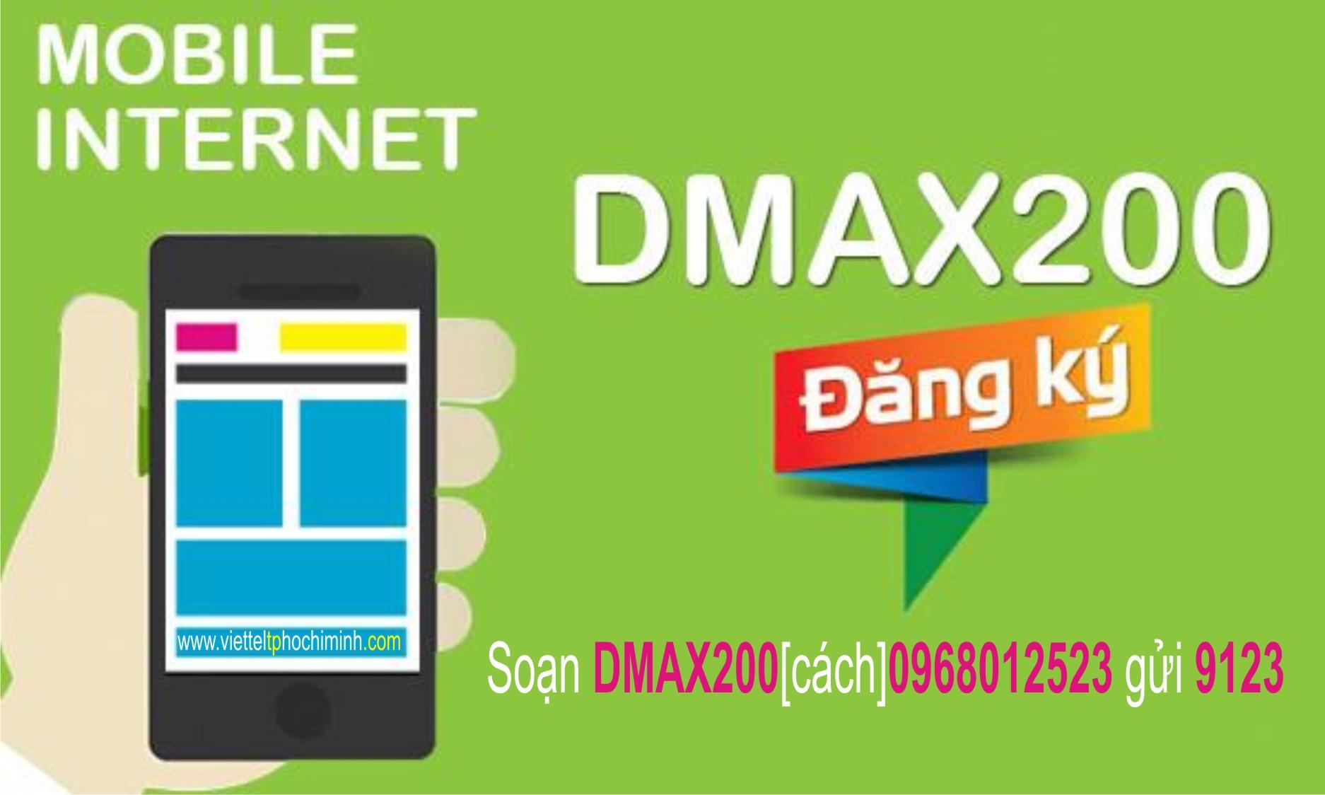 Ưu đãi 3GB Data cùng gói cước Dmax200 của Viettel