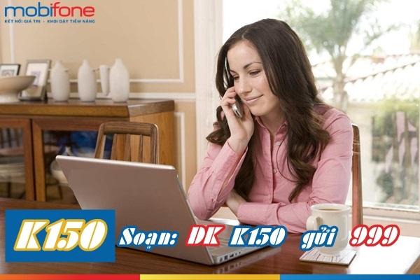 Tuyệt chiêu đăng kí  gói K150 Mobifone nhận tới 250 phút gọi