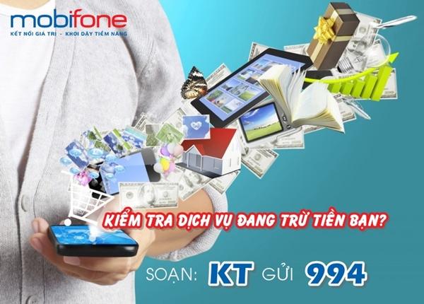 Hướng dẫn nhanh cách kiểm tra các dịch vụ mobifone đang trừ tiền