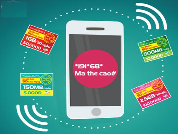 Check in các mệnh giá thẻ cào data Viettel kèm thời gian sử dụng