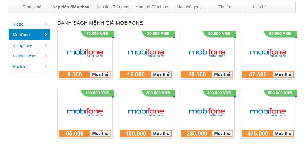 Thông tin về cách nạp tiền Mobifone đơn giản nhất