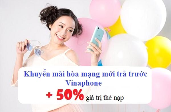 Vinaphone khuyến mãi nạp thẻ tặng 50% thẻ nạp toàn quốc ngày ngày 22/12/2017
