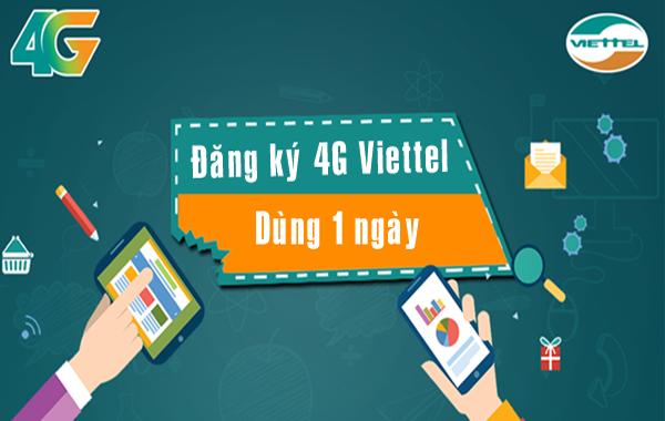 Đăng ký các gói cước 4G Viettel 1 ngày từ 2k, 3k, 5k đến 20k