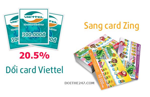 Đổi card Viettel lấy card Zing đơn giản hơn bao giờ hết