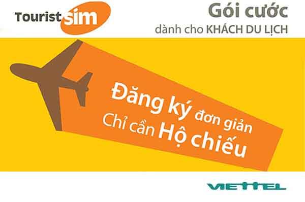 Hòa mạng gói Tourist Viettel trả trước cho người nước ngoài