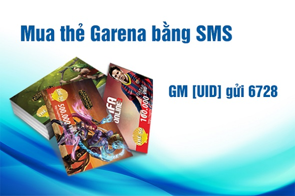 Cách mua card garena bằng sms nhanh chóng đơn giản