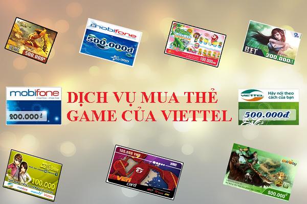 Thông tin chi tiết nhất về dịch vụ mua thẻ game của Viettel