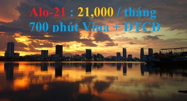Miễn phí 700 phút gọi khi đăng ký gói cước trả sau ALO21 Vinaphone