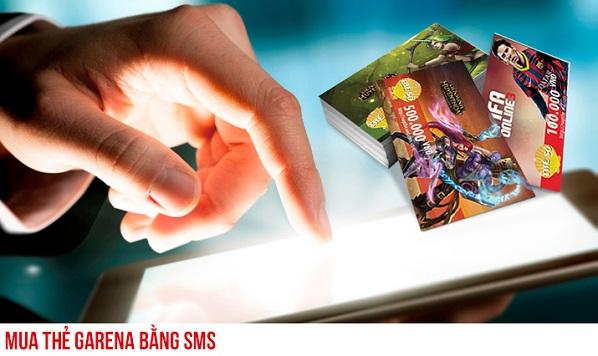 Hướng dẫn mua mã thẻ garena bằng sms trong tích tắc