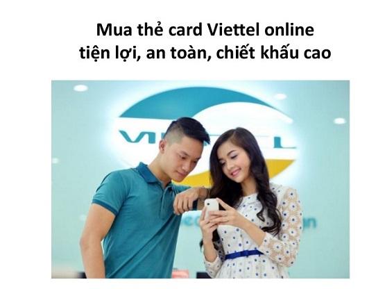 Mua thẻ cào viettel online chiết khấu khủng 7.1%