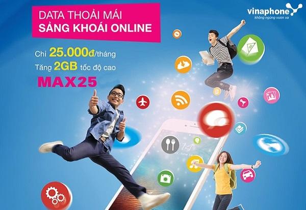 Ưu đãi 2GB data khi đăng ký gói cước 3G sinh viên Max25 Vinaphone