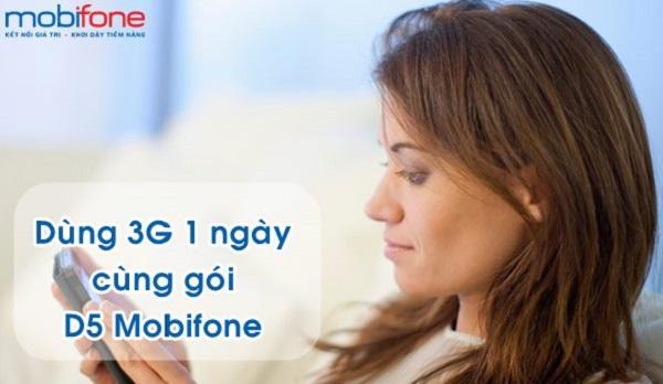 Hướng dẫn đăng ký gói cước 3G 1 ngày D5 Mobifone với giá 5.000đ