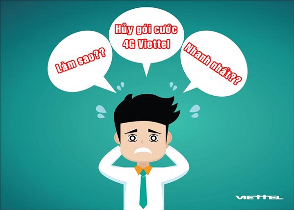 Cách hủy gói cước 4G Viettel đơn giản nhất