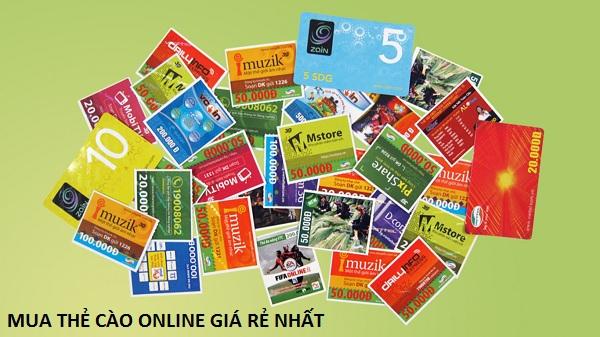 Website hỗ trợ mua thẻ cào online giá rẻ nhất trên thị trường