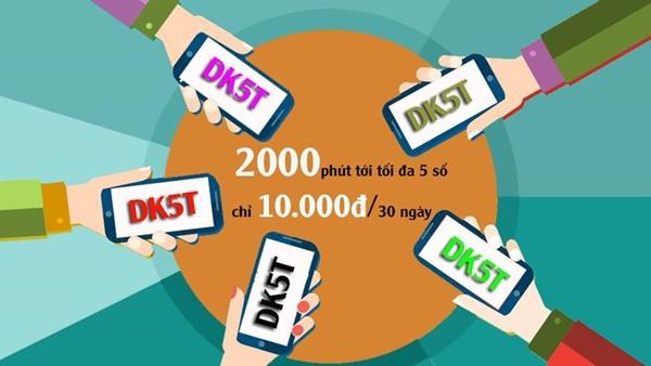 Đăng kí nhanh gói DK5T viettel có ngay 30 phút gọi miễn phí