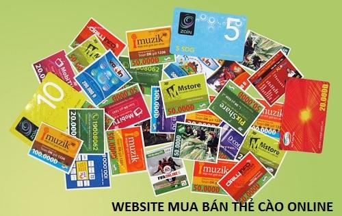 Tìm kiếm website mua bán thẻ cào online đơn giản, uy tín nhất hiện nay