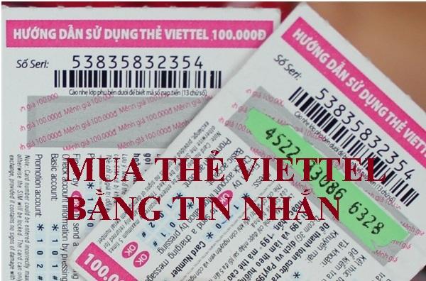 Mua thẻ Viettel bằng tin nhắn thực hiện ra sao?