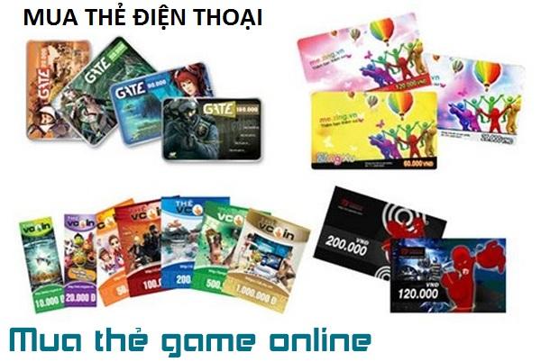 Hướng dẫn nhanh cách mua thẻ điện thoại, thẻ game online