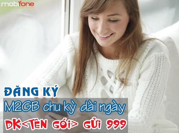 Hướng dẫn đăng ký các gói cước 3G chu kỳ dài M2GB Mobifone