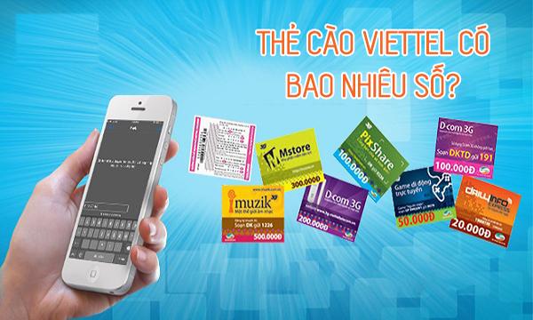 Mã thẻ cào Viettel có bao nhiêu số? Các mệnh giá thẻ cào Viettel?