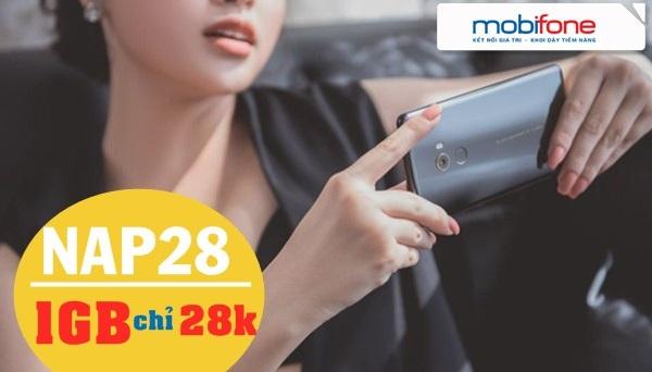 Mua thêm 1GB data với gói cước NAP28 Mobifone