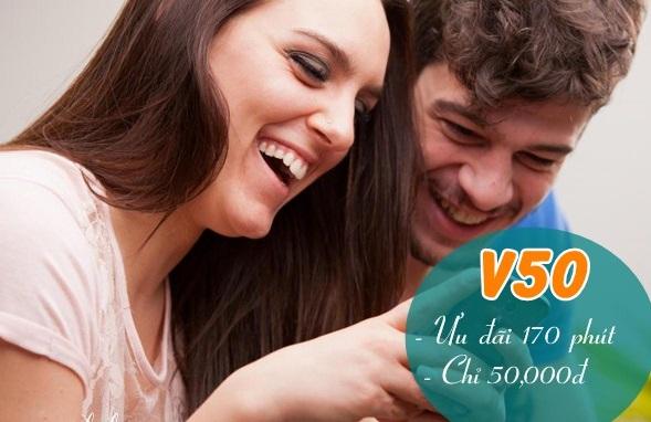 Ưu đãi 170 phút gọi miễn phí với gói cước V50 Viettel