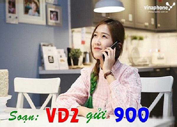 Có 20 phút, 500MB khi đăng ký gói VD2 Vinaphone chỉ 2k/ngày