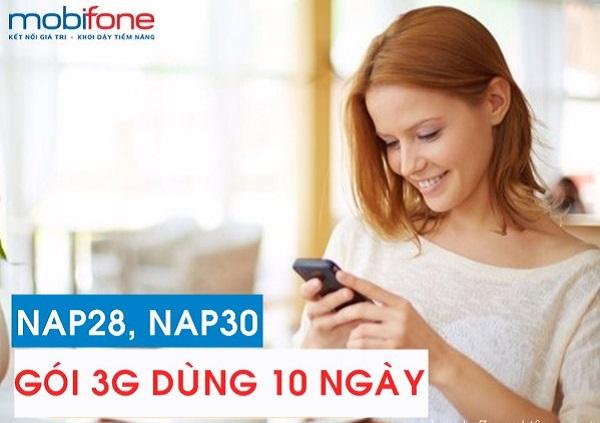 Hướng dẫn đăng ký gói cước 3G 10 ngày Mobifone