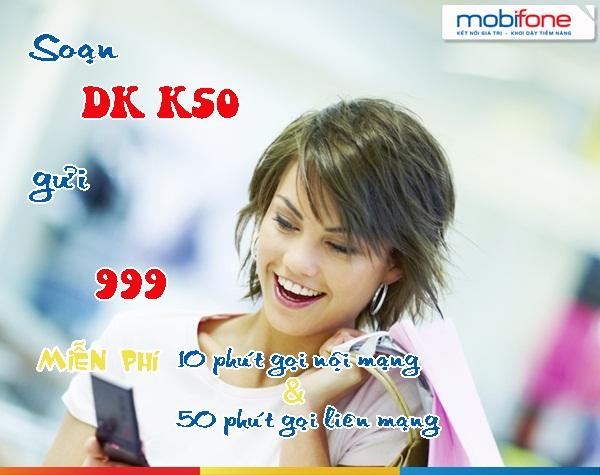 Đăng ký gói K50 Mobifone gọi liên mạng chỉ 50k/tháng