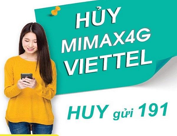 Chi tiết cách hủy gói MIMAX4G Viettel trọn gói 90k/tháng