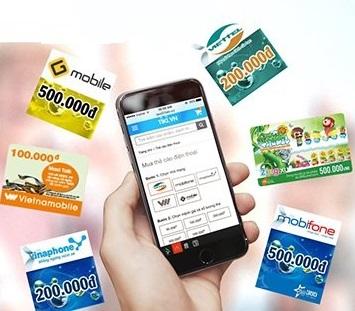 Hướng dẫn mua thẻ cào trên điện thoại smarphone cực dễ