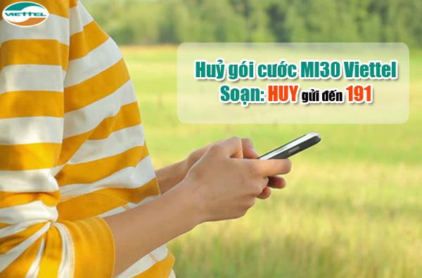 Làm sao để hủy gói MI30 Viettel chỉ với 1 tin nhắn?