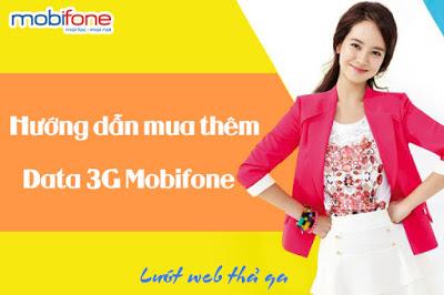 Làm sao để mua thêm dung lượng data 3G Mobifone?