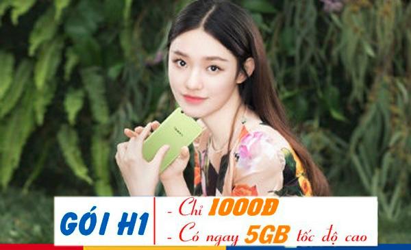 Ưu đãi 5GB data với giá chỉ 1.000đ với gói cước H1 Mobifone