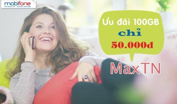 Ưu đãi 100GB data khi tham gia gói cước MAXTN Mobifone