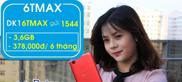 Nhận ngay 7,2GB data sử dụng 6 tháng khi tham gia gói 6TMAX100 Vinaphone
