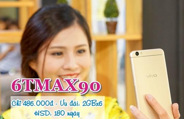 Ưu đãi siêu khủng 12GB data khi tham gia gói 6TMAX90 Vinaphone