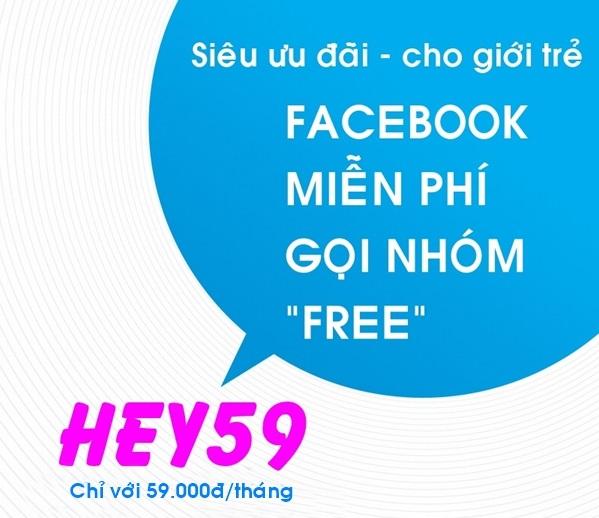 Ưu đãi gọi thoại, sms và data siêu khủng khi đăng ký gói HEY59 Vinaphone