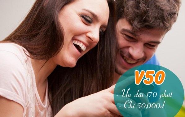 Tặng 170 phút gọi miễn phí khi tham gia gói V50 Viettel