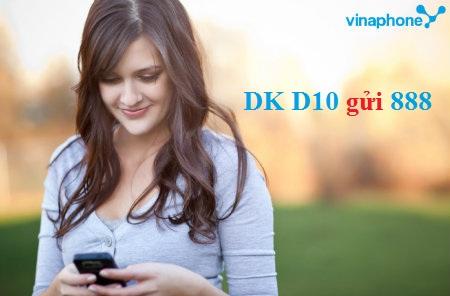 Ưu đãi 3GB data khi tham gia đăng ký gói D10 Vinaphone